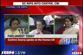 Parliament disrupted because of corrupt government: Sushma Swaraj