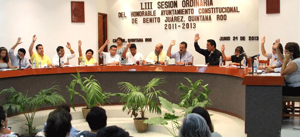 El Cabildo de Benito Juárez en sesión ordinaria