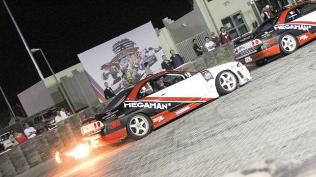 The Team Maximum Lock cars at the Bahrain International Motor Show. Photo: Daniel J. Vella