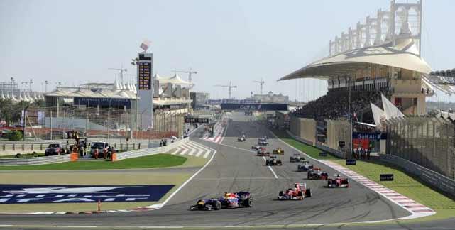 Blick auf die Strecke in Bahrain (Foto: imago)